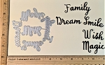 Scrapbooking Die-Words-Magic/Wish/Dream/Family/Smile