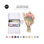 Watercolor Confections-  Vintage Pastels  **Plus free brushes to get you started**