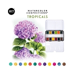Watercolor Confections-  Tropicals  + 2 brushes