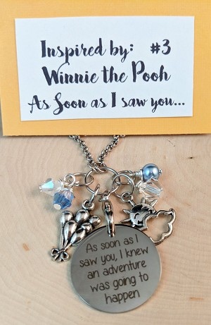2020 NEW!  Disney inspired necklace  **Favorite Bear--As soon as I met you, and adventure...**