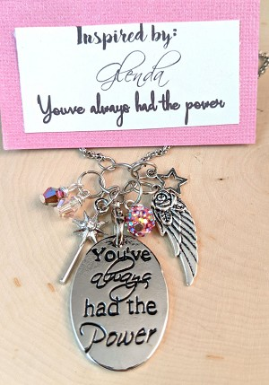 2020 NEW!  Wizard of OZ inspired necklace  **Glenda-You've Always had the Power**