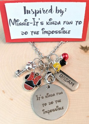 2020 NEW!  Disney inspired necklace  **Girl Mouse-Kinda Fun to do the Impossible**