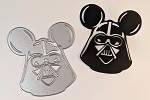 Scrapbooking die-dark side mouse head