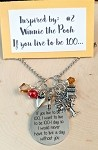 2020 NEW!  Disney inspired necklace  **Favorite Bear-Quote 100-1**