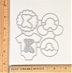 Scrapbooking Die-Baby Onsies-Mouse decor