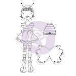 Julie Nutting-Bee Girl/Daisy    **Retired Stamps**