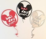 Scrapbooking die-Best Day Ever Balloon