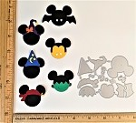 Scrapbooking Die-Halloween Mouse Head 6 Costumes
