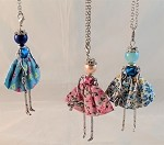 Necklace-Lovely Ladies --Floral Dresses