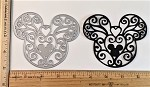 Scrapbooking Die-Heart Filigree Mouse Head