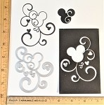 Scrapbooking Die-Mouse Head Flourish #2