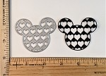 Scrapbooking Die-Mouse head with tiny hearts
