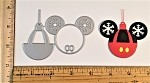 Scrapbooking die-Christmas Mouse Ball Ornament