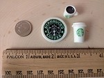 Trinkets inspired by Starbucks--Logo/Cup/Coffee