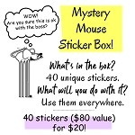 Mouse Mystery Sticker Box