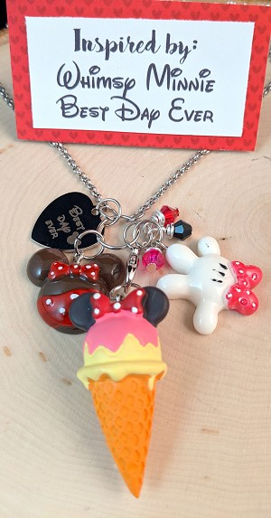 2020 NEW!  Disney inspired necklace  **Whimsy Girl Mouse-Best Day Ever**